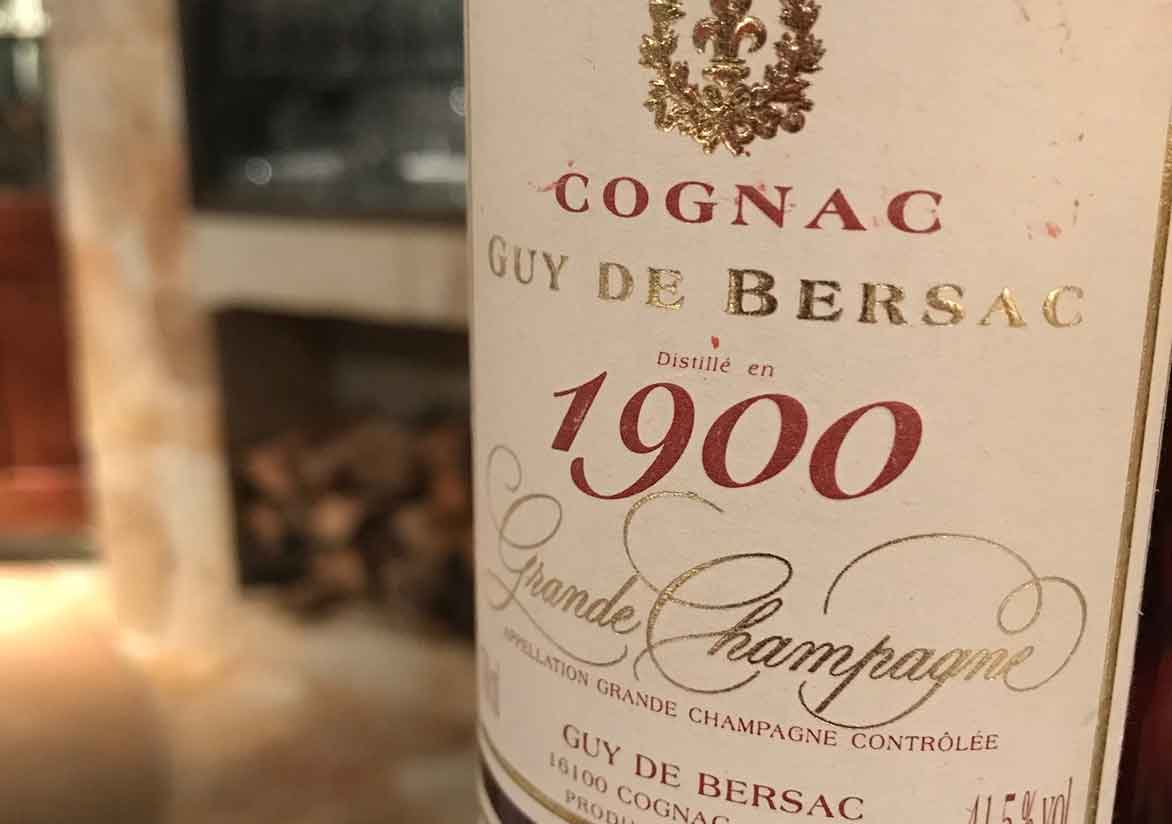 1900年Guy de Bersac Gran Champagne Cognac
