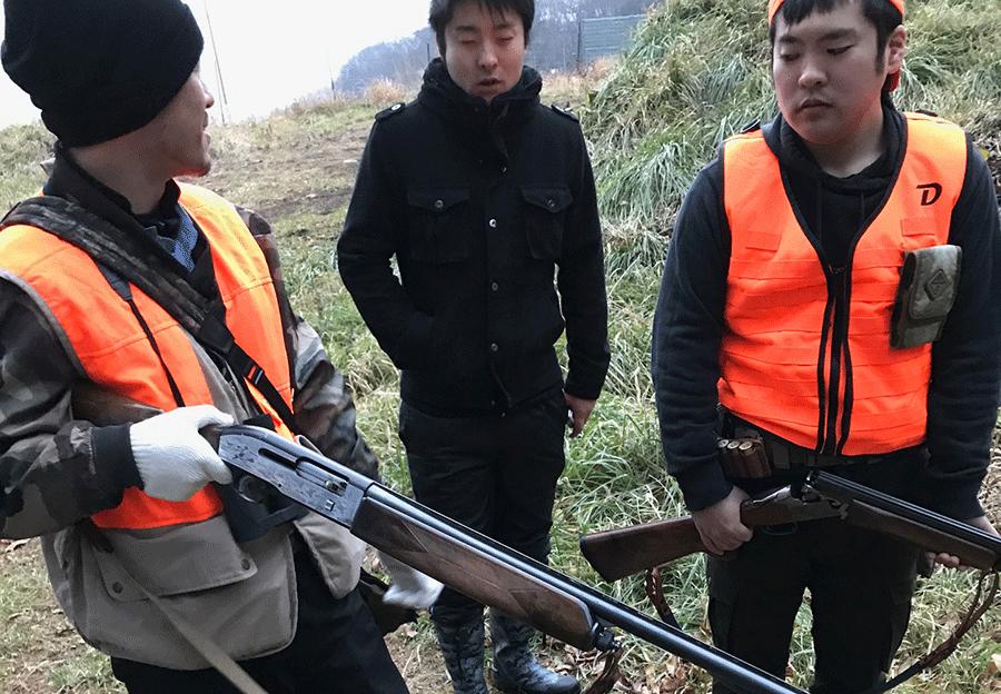 狩猟の現場での実習