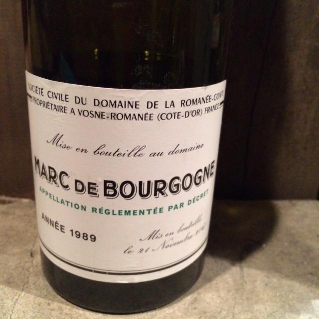 Marc du Bourgogne DRC / マールドブルゴーニュ DRC