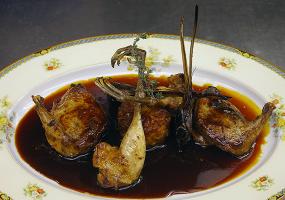 ヤマシギのポワレ サルミソース