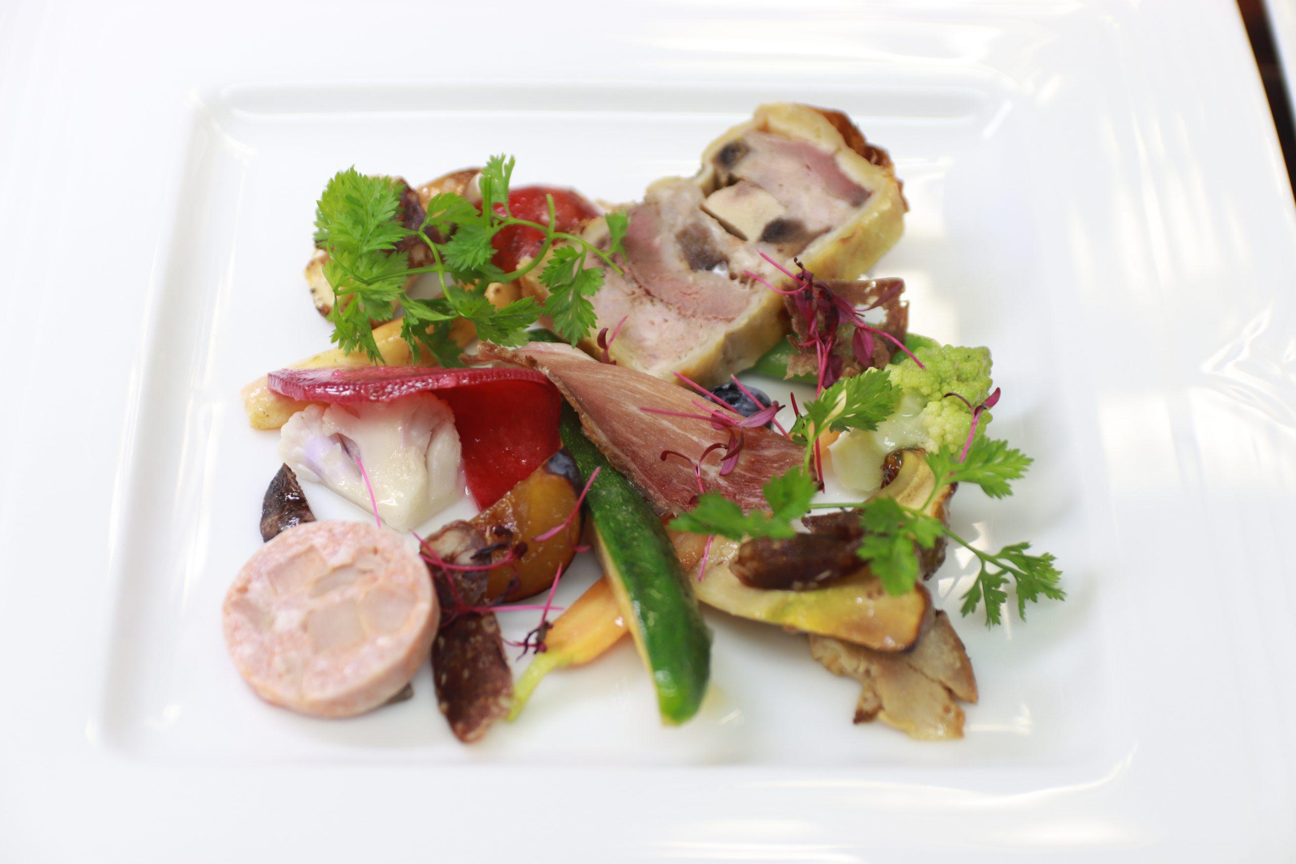 パテ・アンクルートと信州野菜、シャルキュトリーの盛り合わせ
